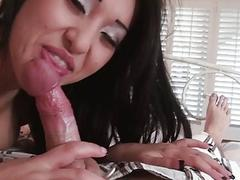 Nasty asian gf Jayden Lee anal slammed