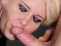 Cfnm blonde sucking dick