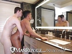 ManRoyale After work bath blowjob and fuck with Ethan Slade