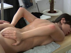 Charming beauty is giving dude a wet oral pleasure engulfing