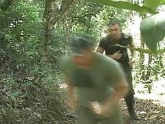 Military BareBacking in the Jungle