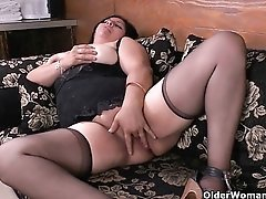 Latina milf Allison plays kinky games with clothespins