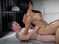 Raven hart rides on top of dzhessi dzhons big cock