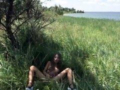 Fedorov russian teen Mika masturbate outdoor