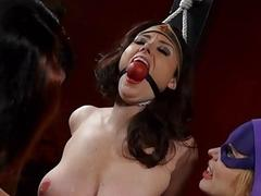 Sexy sluts Candle Boxxx and Diana Knight in BDSM threeway