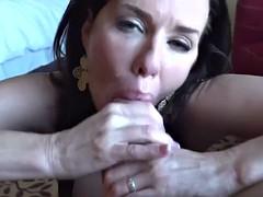 horny cougar gives a fantastic blowjob