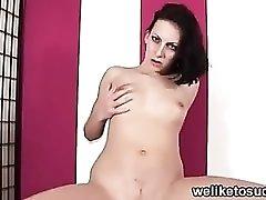 Dick teasing brunette