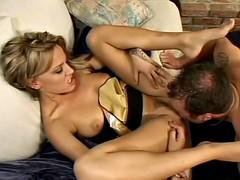Irresistible blonde babe gets annihilated by her boyfriend