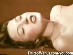 John Holmes Fucks Hairy Brunette Girl - Vintage Porn 1970s