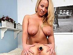 Curvy lesbians anal dildo sex scene