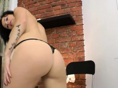 Ass banged babe sucks