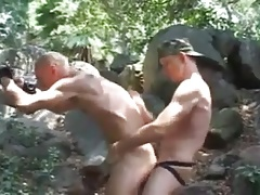 Outdoor Bareback with Pissfuck Creampie and Felching