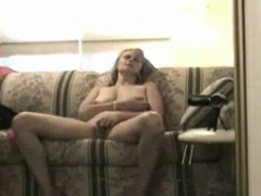 Solo mature in an amazing striptease masturbation show