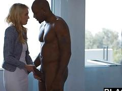 Keira Nicole has hot interracial sex with a black man