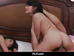Adria Rae gets brutally fucked beside her mom