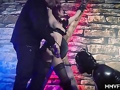Master commands his slave girl to suck a dick