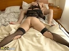 Lingerie porn video with a hard anal fuck