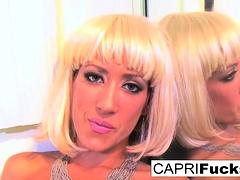 Busty Capri Cavanni fucks her wet pussy