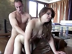 Young model blows and fucks her photographer