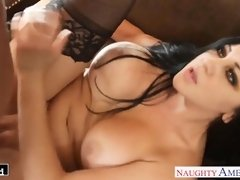 Ultra fantastic dark-haired Audrey Bitoni ravaging