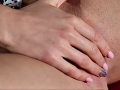 charming nancy a strips off and plays with herself in closeup