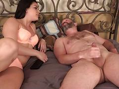 Husband Watches and Eats Up Cum