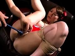 Asian bdsm pussy toying bondage