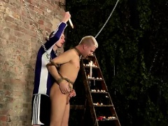 Gay sex Restrained and unable to refuse, Deacon is made to g