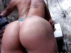 Big ass Brazilian babe has interracial sex with a thug