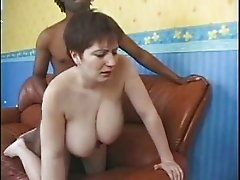 Brunette Babe With Huge Tits Fucking A Black Guy 3