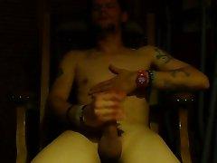 Masturbating my cock and cumming