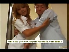 Japanese super sexy nurse in action