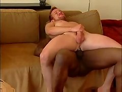 hot black fuck on the sofa