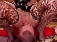 sniffing reds pussy and bottom