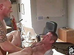 Hard cock drilling gay friends ass
