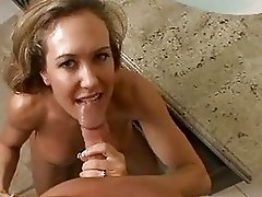 Alluring Brandi Love receives a hot load of cock sauce on her mouth and loves it
