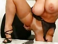 Hot babe Danni Ashe getting naughty in the office